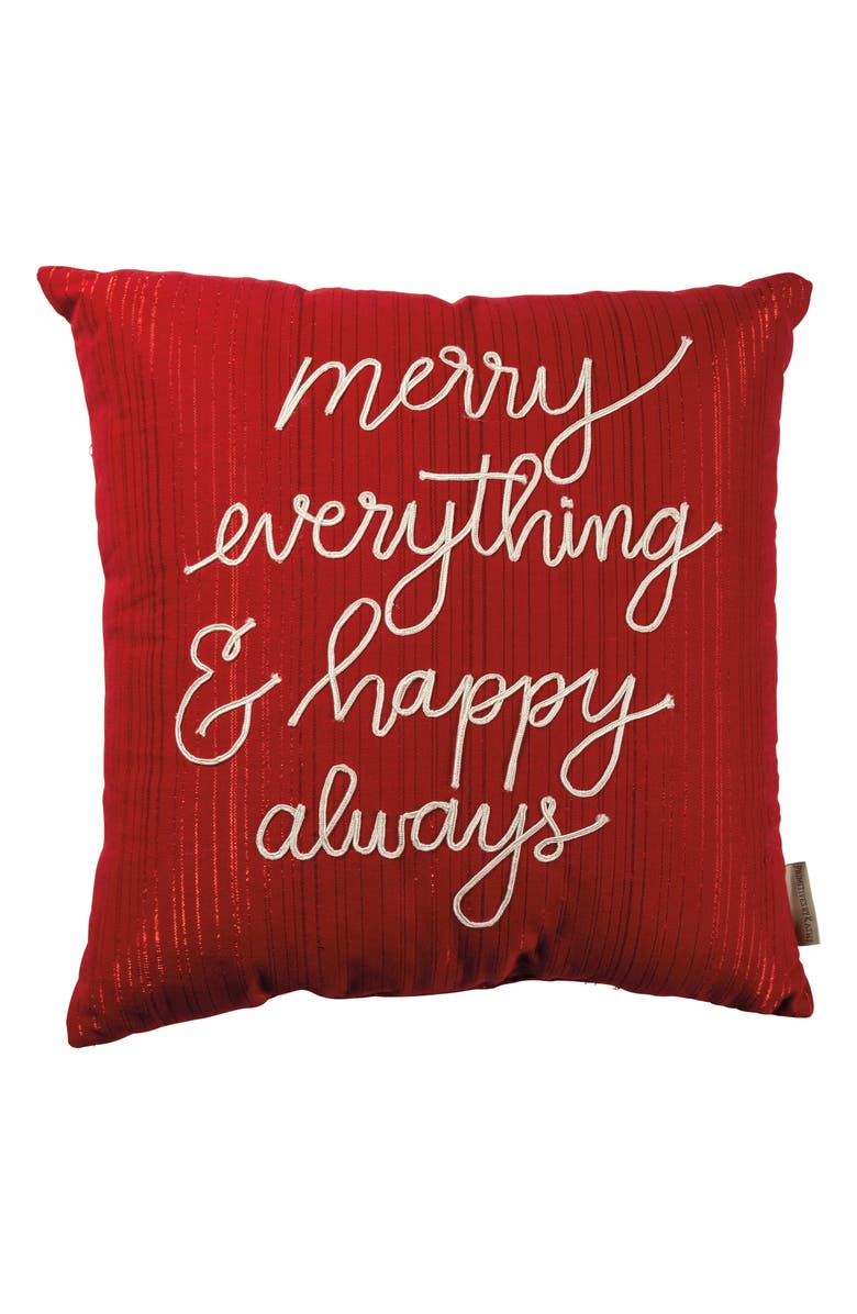 PRIMITIVES BY KATHY Merry Everything Accent Pillow, Main, color, RED