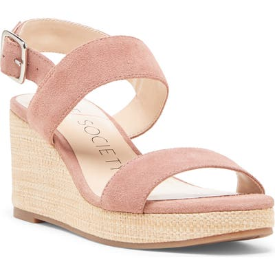 Sole Society Cimme Wedge Sandal- Pink