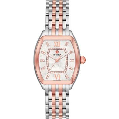 Michele Releve Two-Tone Diamond Dial Watch Head & Interchangeable Bracelet, 31Mm Mm