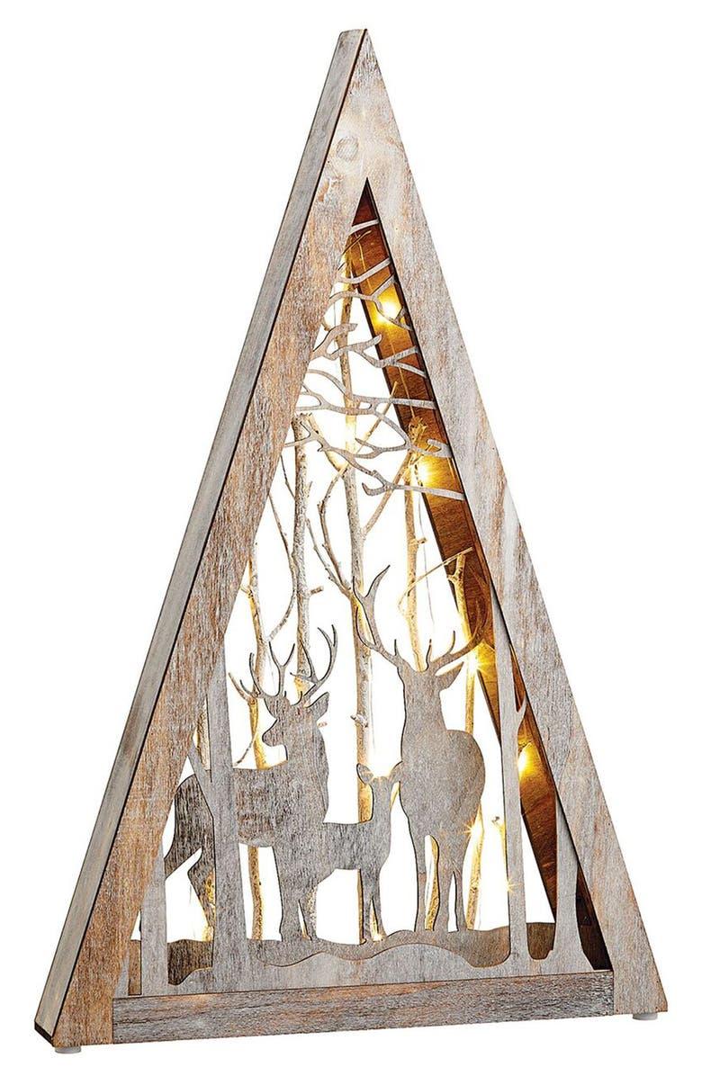 ALLSTATE LED Reindeer Scene Decoration, Main, color, GRAY BROWN