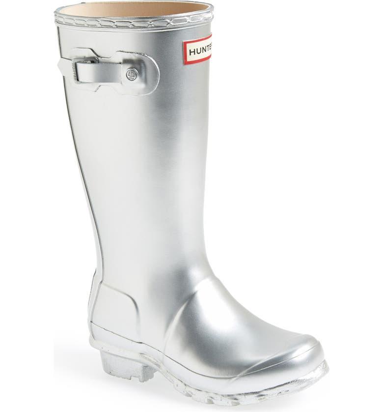 HUNTER Original Waterproof Rain Boot, Main, color, SILVER