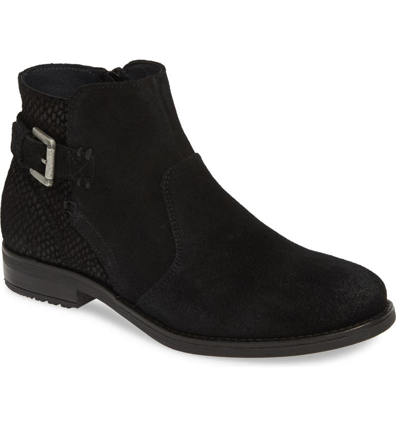 BOS. & CO. Tryn Bootie, Main, color, BLACK SUEDE