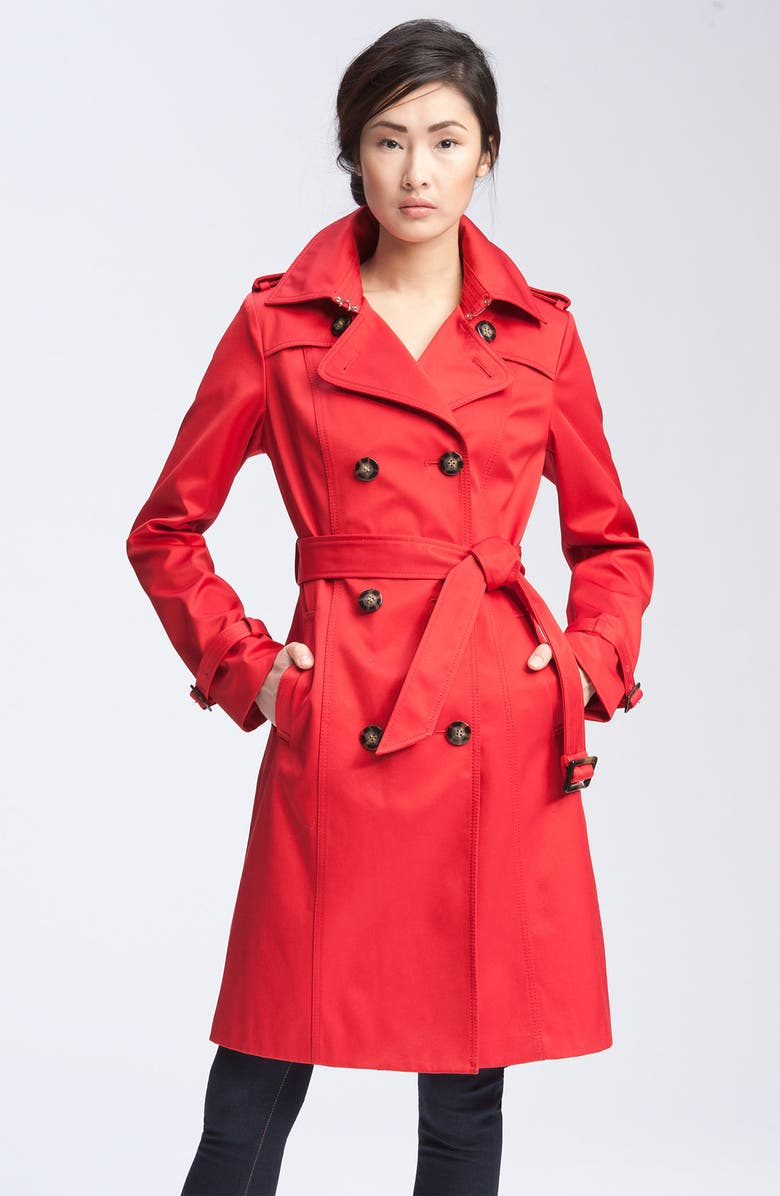 DAWN LEVY Double Breasted Trench Coat, Main, color, 600