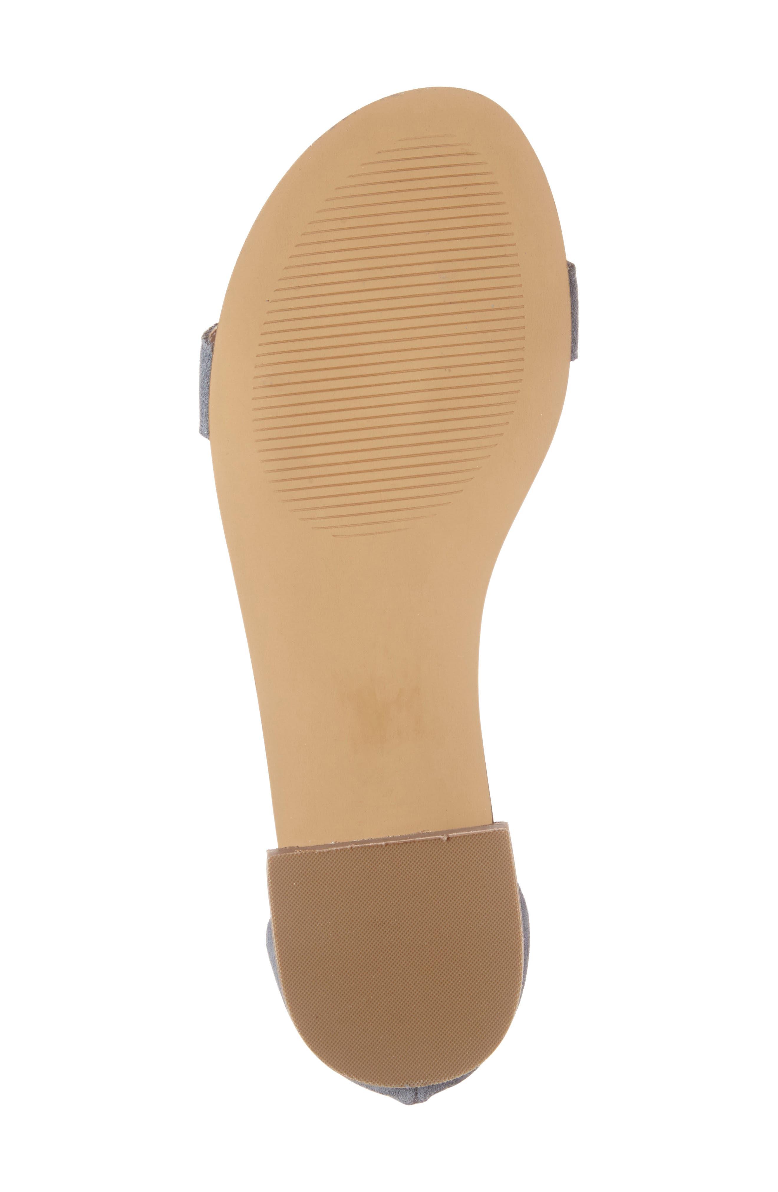 ,                             Koa Fringed T-Strap Sandal,                             Alternate thumbnail 18, color,                             450