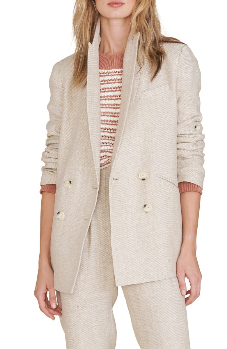 VERONICA BEARD Parineti Linen Jacket, Main, color, STONE