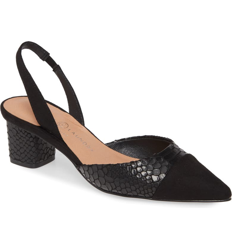 CHINESE LAUNDRY Cabella Slingback Pump, Main, color, BLACK FAUX LEATHER