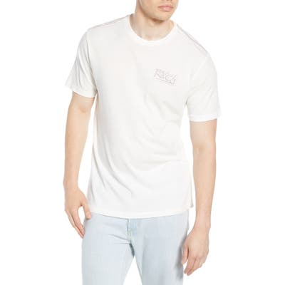 Rvca Offset Logo Graphic T-Shirt, Ivory