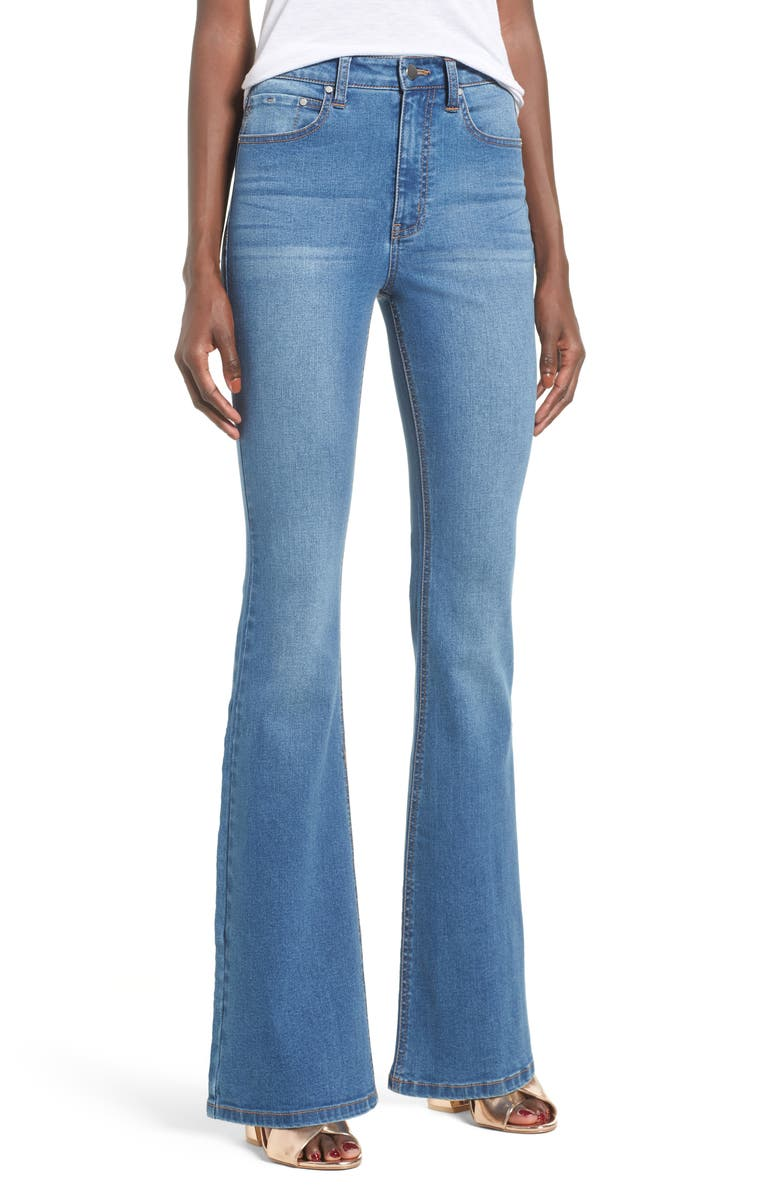 TINSEL Flare Jeans, Main, color, 419