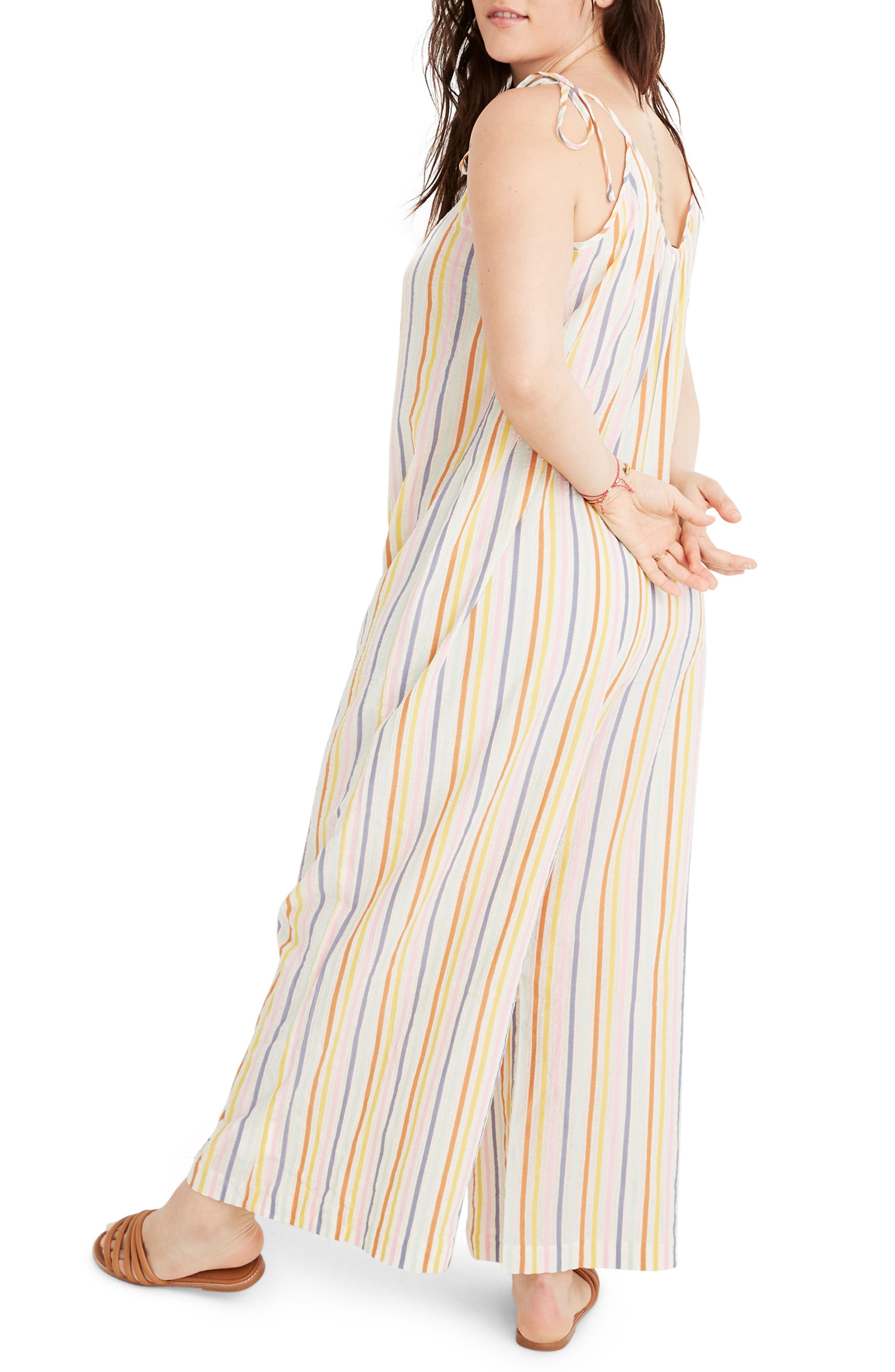 ,                             Tie Strap Cover-Up Jumpsuit  Tie-Strap Cover-Up Jumpsuit,                             Alternate thumbnail 5, color,                             PEARL IVORY