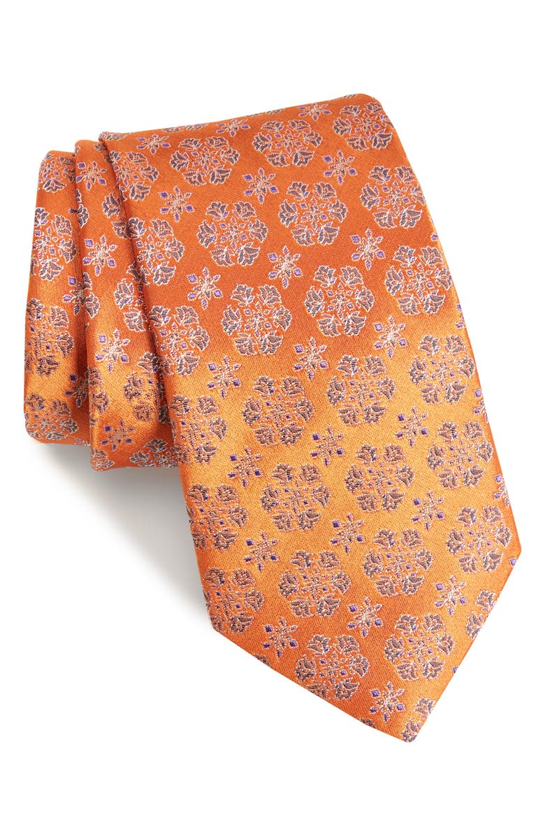 ETON Floral Silk Tie, Main, color, 800