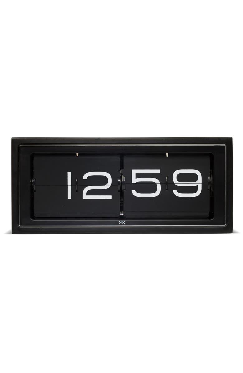 LEFF AMSTERDAM Brick Desk Clock, Main, color, BLACK/ BLACK