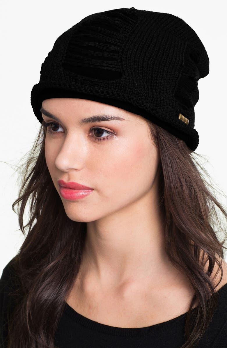 GRACE HATS Slouchy Beanie, Main, color, 001