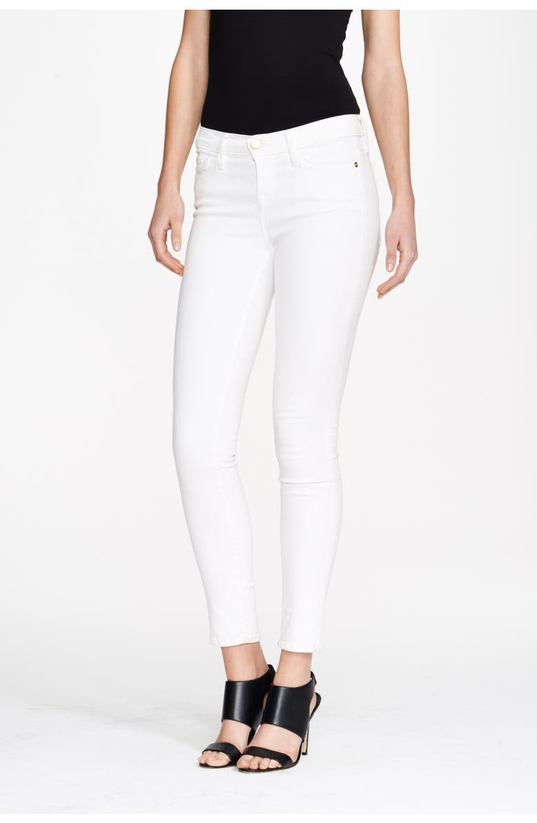 FRAME Le Color Skinny Jeans, Main, color, BLANC