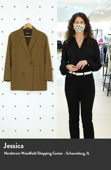 Caldwell Plaid Double Breasted Blazer, sales video thumbnail