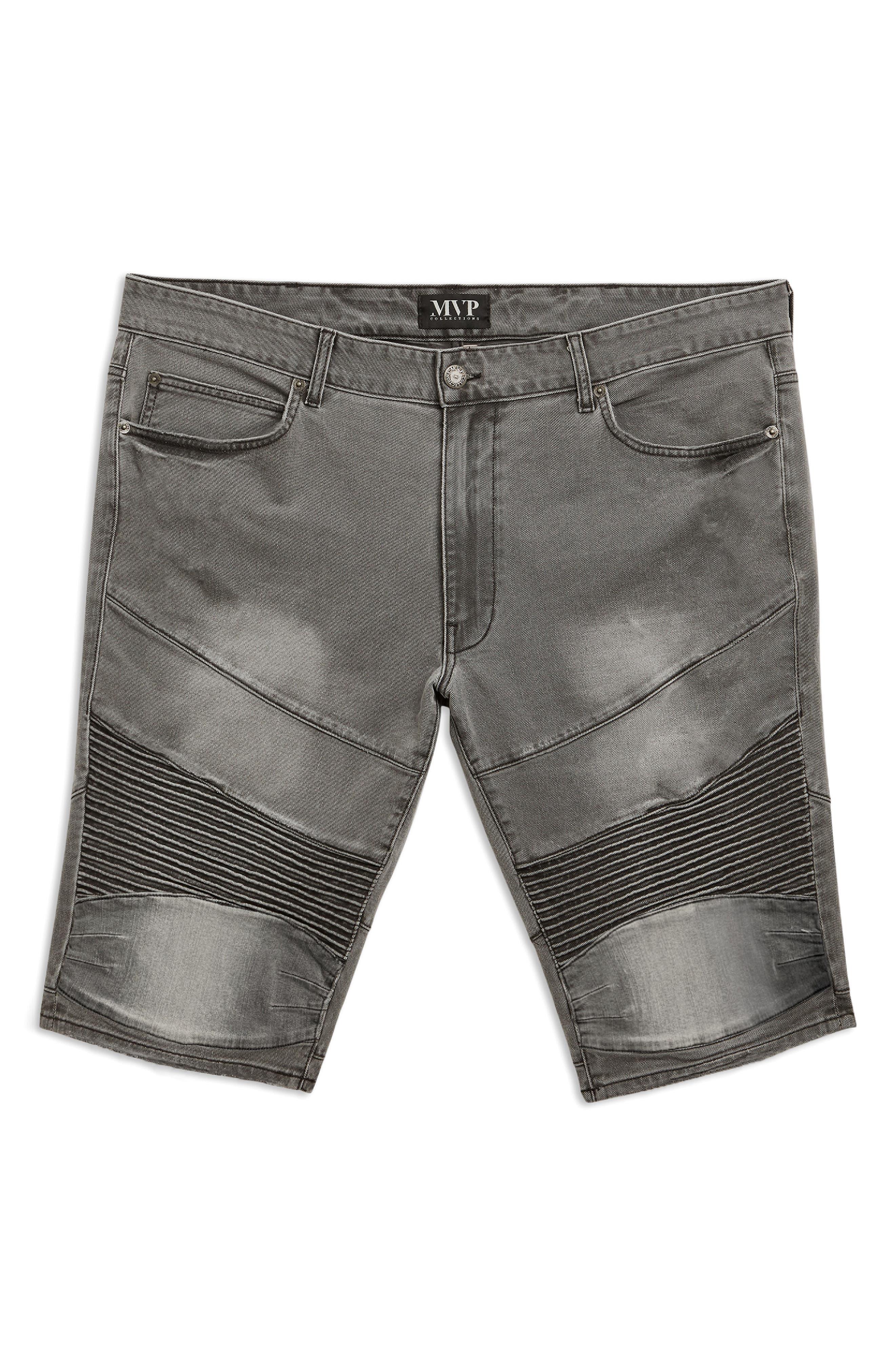 Moto Denim Shorts