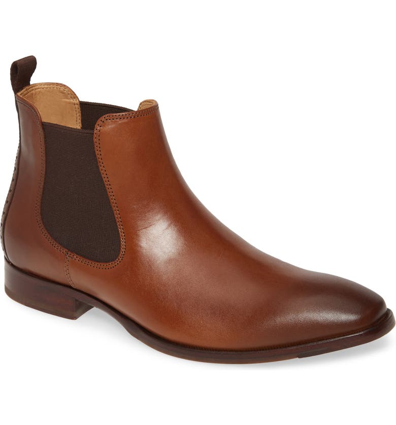 JOHNSTON & MURPHY McClain Chelsea Boot, Main, color, DARK TAN LEATHER
