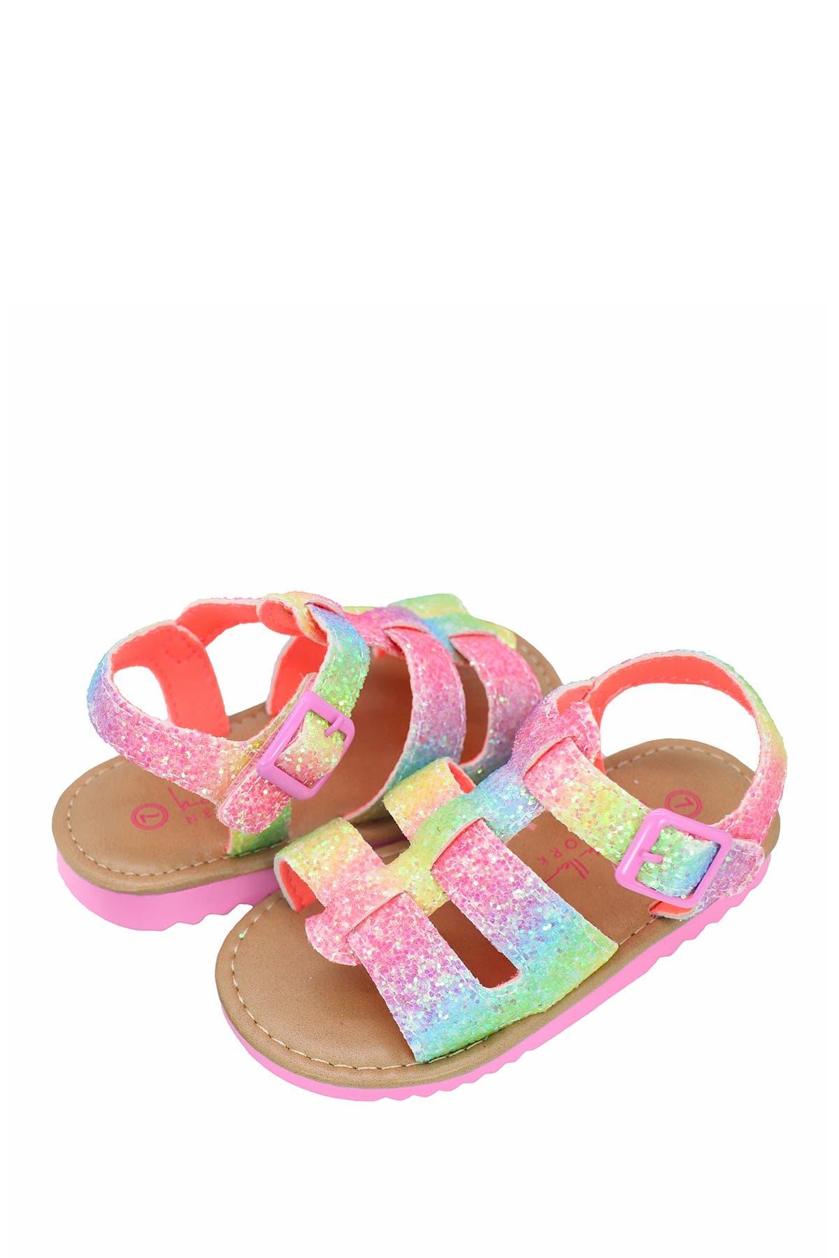 Image of Nicole Miller Chunky Glitter Sandal