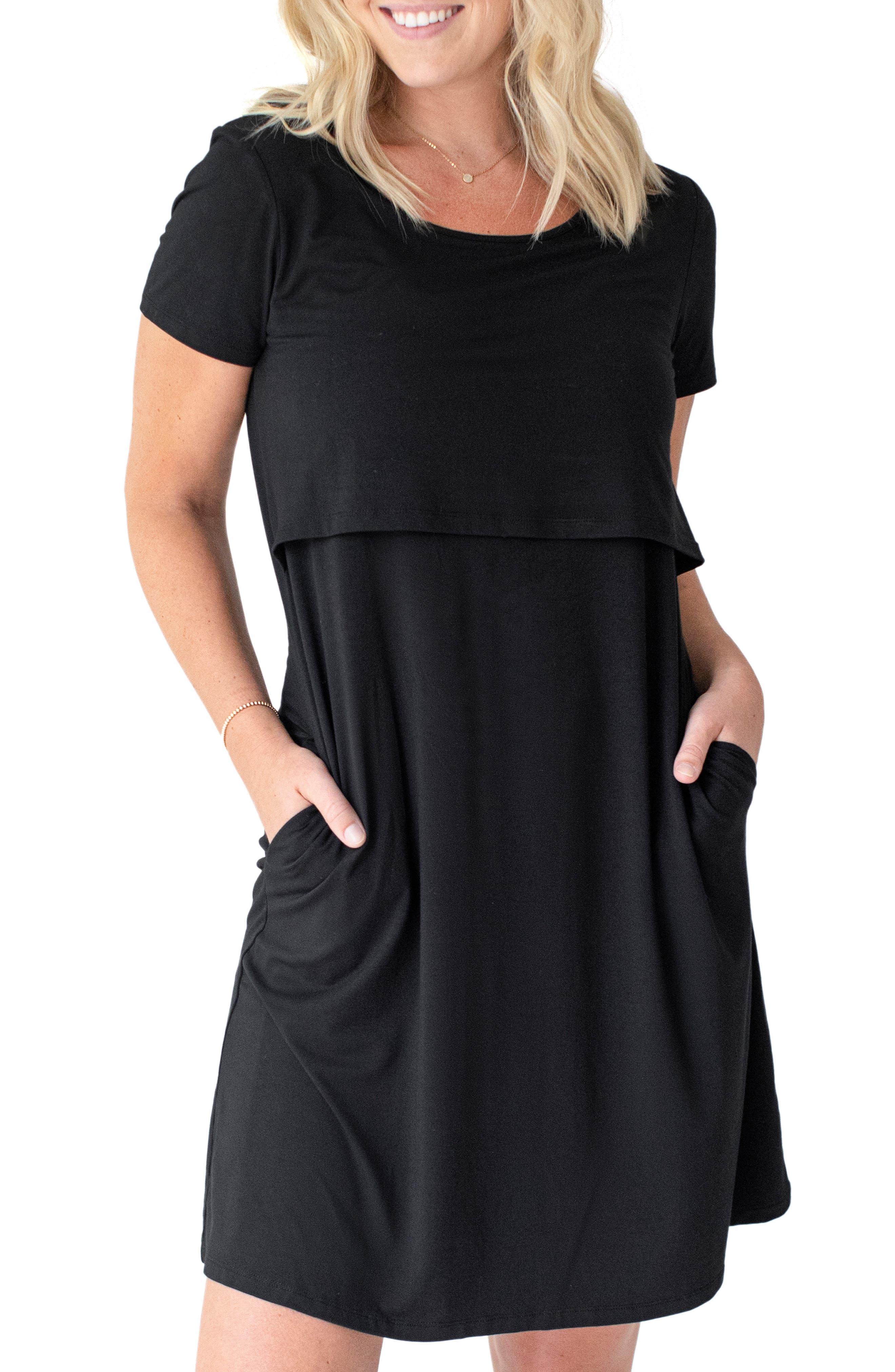 Eleanora Overlay Maternity/nursing Sleep Shirt