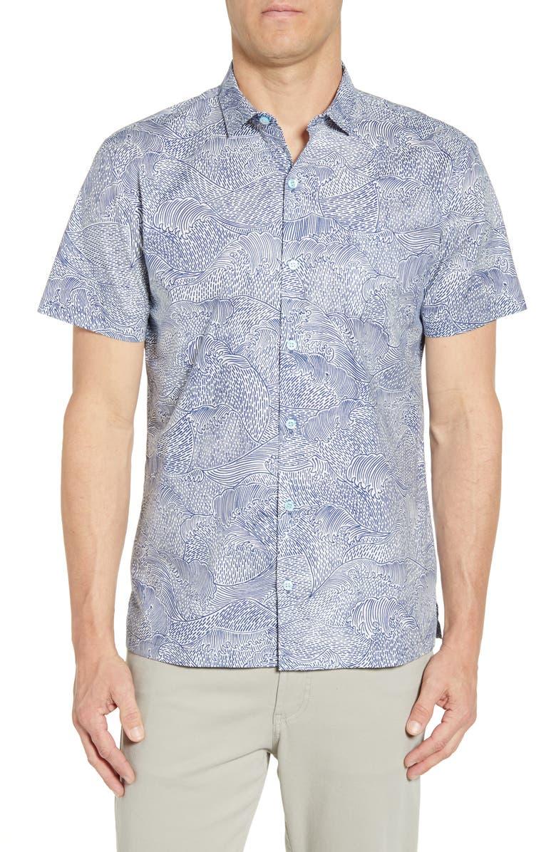TORI RICHARD Tendensea Regular Fit Shirt, Main, color, WHITE