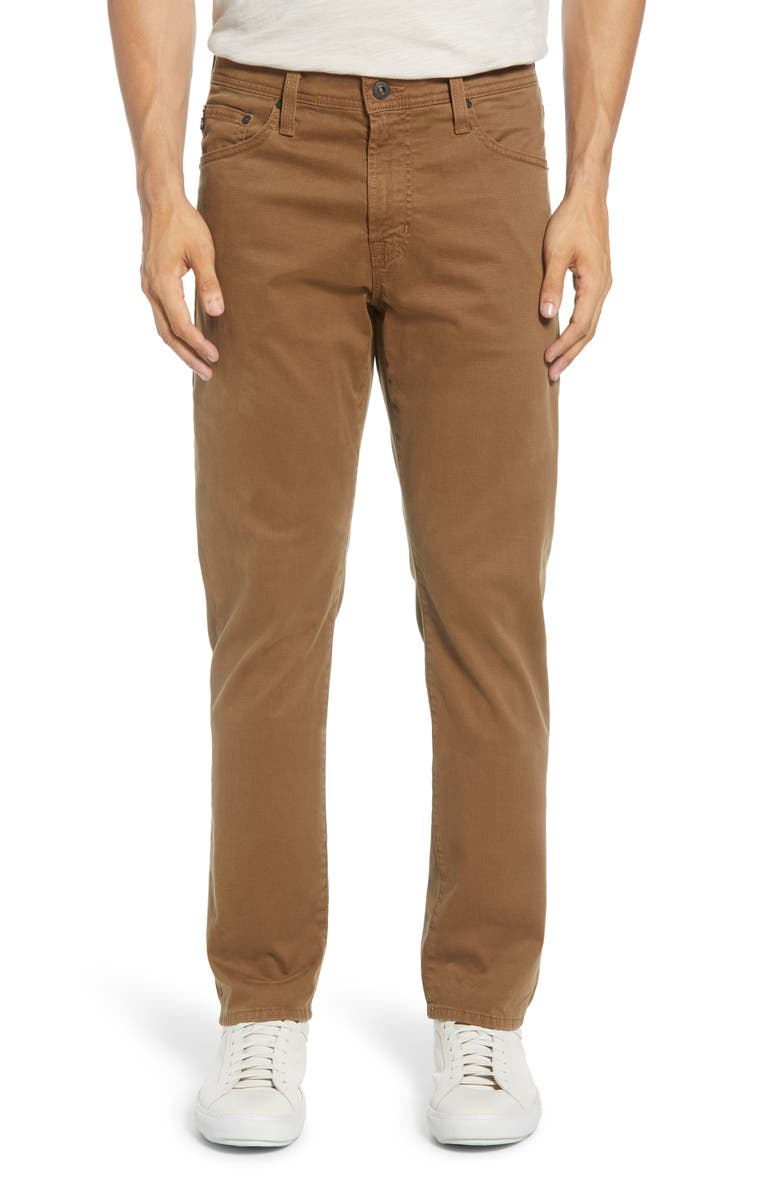AG Herringbone Everett SUD Straight Leg Pants, Main, color, JOT PORTER TAN