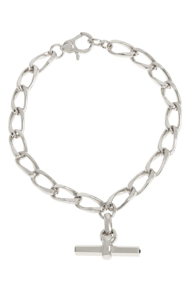 ALLSAINTS Toggle Chain Bracelet, Main, color, SILVER