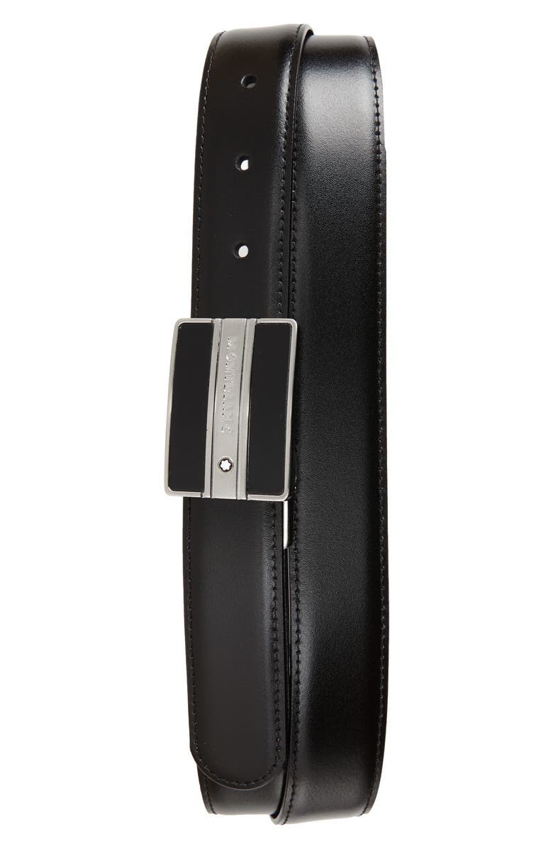 MONTBLANC Meisterstück Buckle Reversible Leather Belt, Main, color, 001