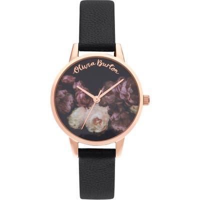 Olivia Burton Fine Art Leather Strap Watch, 30Mm