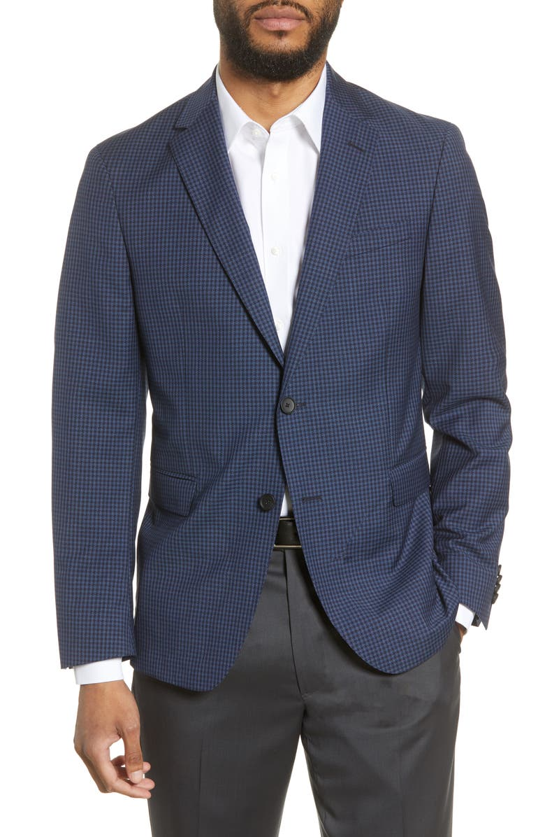 BOSS Nobis Trim Fit Houndstooth Wool Sport Coat, Main, color, 402