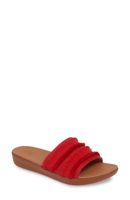 Image of Fitflop Sola Fringe Slide Sandal