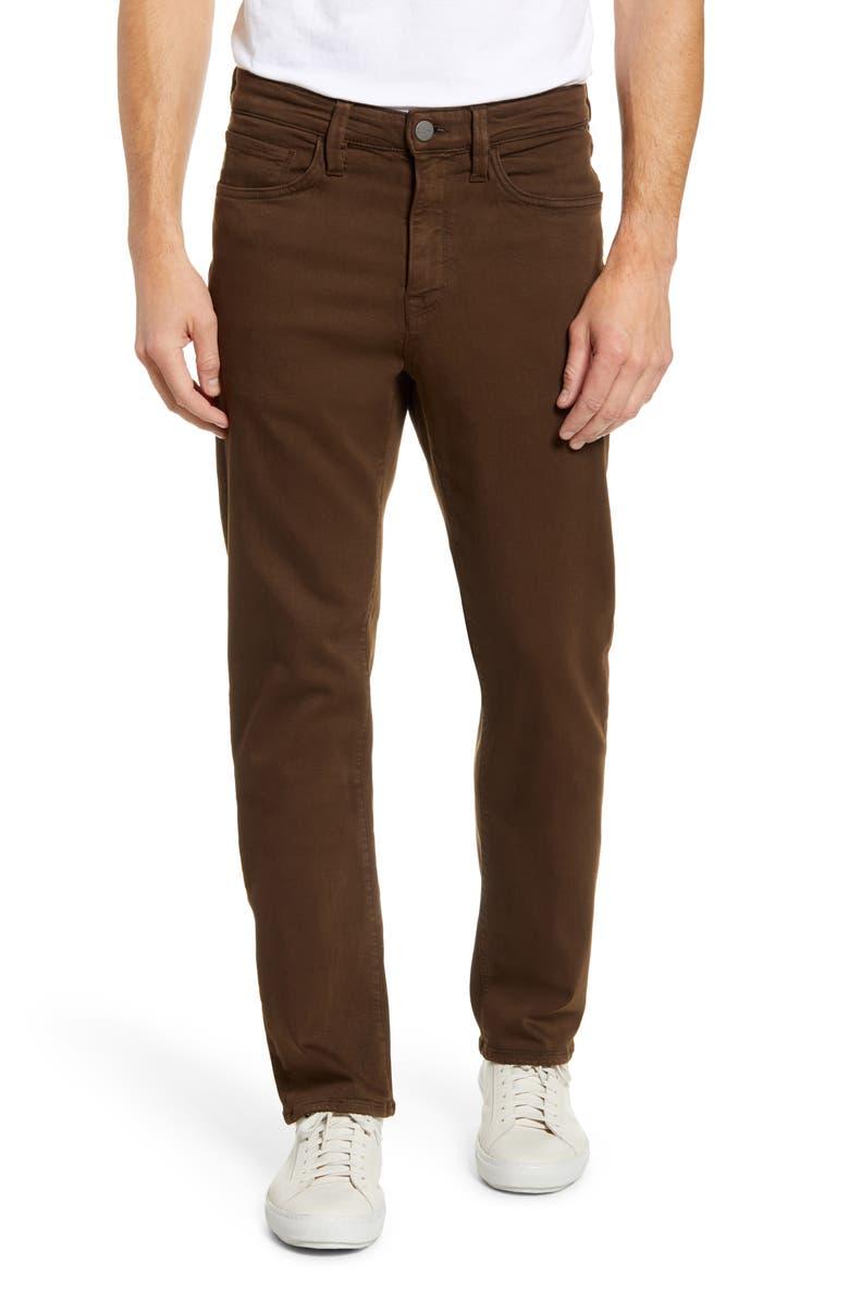 34 HERITAGE Comfort Slim Straight Leg Jeans, Main, color, BROWN COMFORT