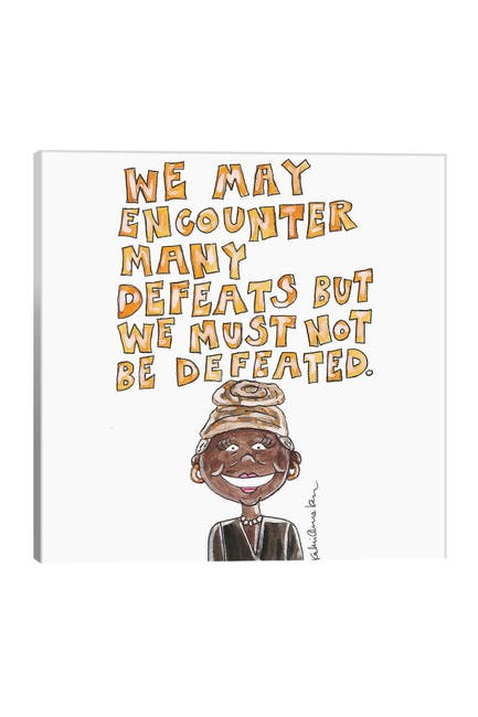 Image of iCanvas Maya Angelou Quote by Kahri