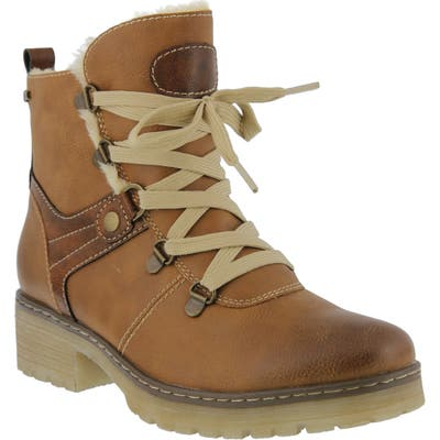 Spring Step Micha Faux Fur Lined Hiking Boot - Beige