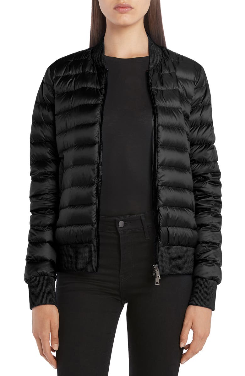 MONCLER Abricot Down Bomber Jacket, Main, color, 001