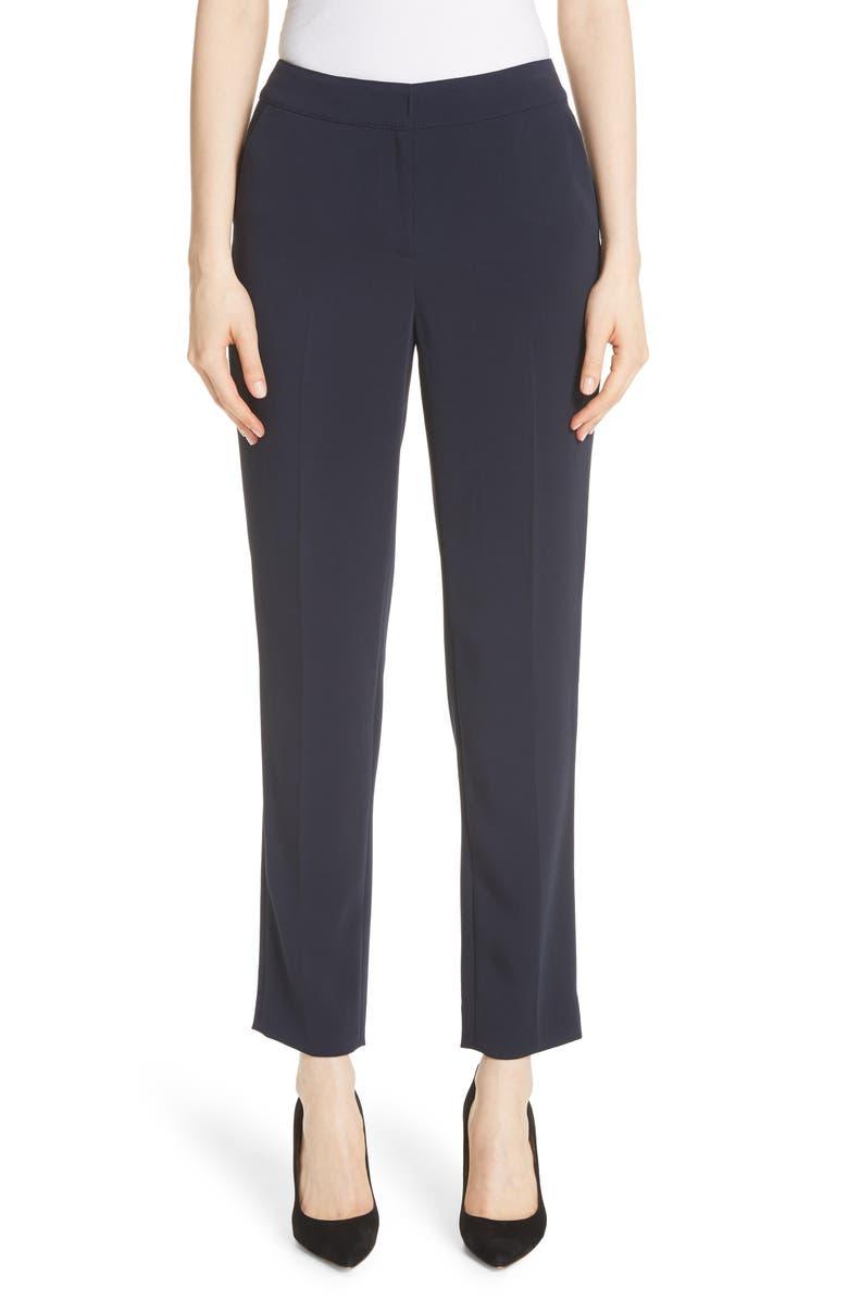 ST. JOHN COLLECTION Emma Cady Crop Pants, Main, color, NAVY