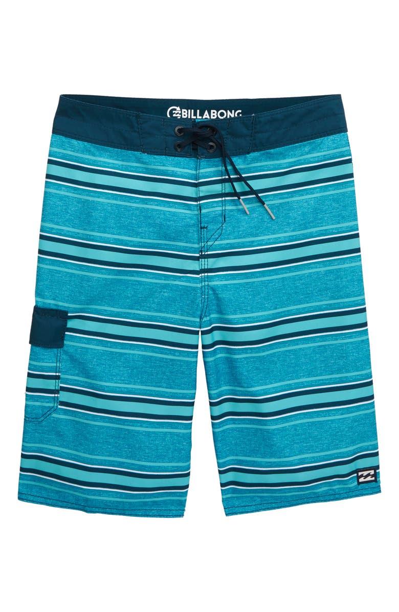 BILLABONG All Day Parallel OG Board Shorts, Main, color, ROYAL HEATHER