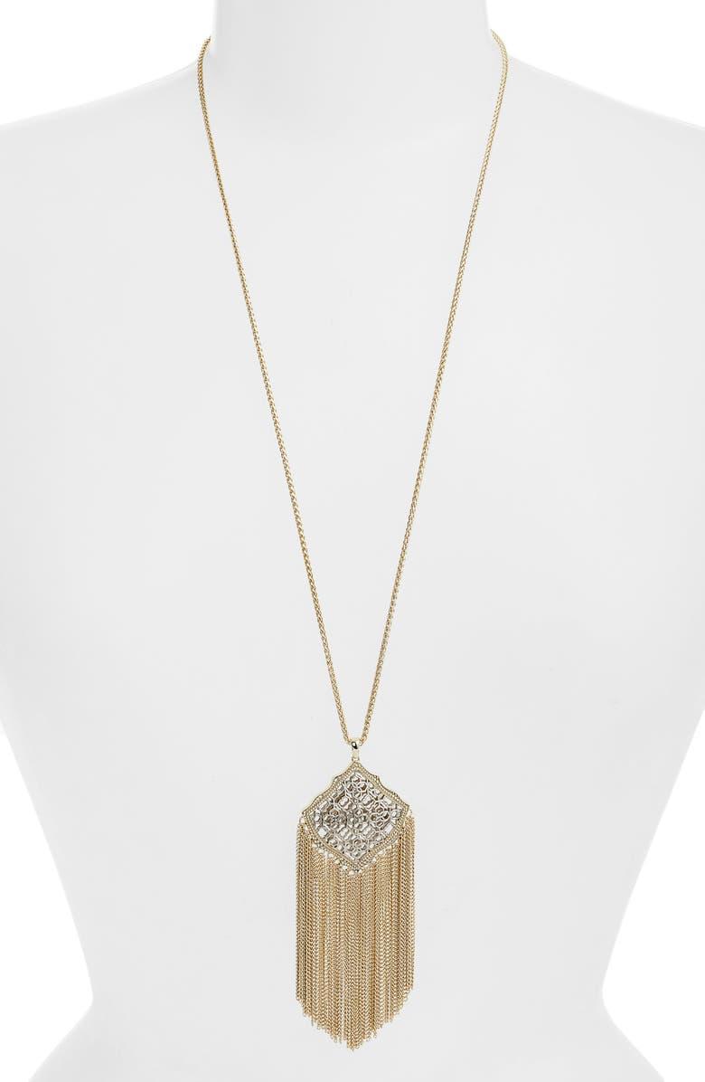KENDRA SCOTT Kingston Adjustable Pendant Necklace, Main, color, 044