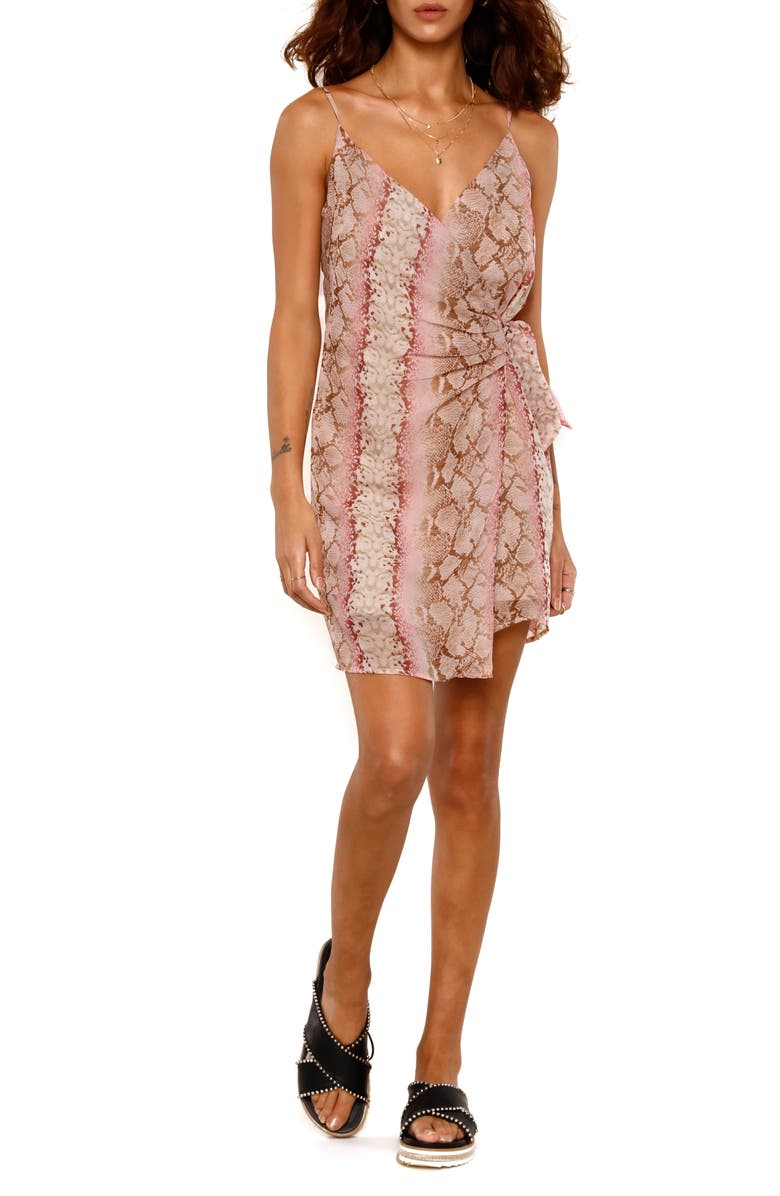 HEARTLOOM Paige Wrap Dress, Main, color, PYTHON
