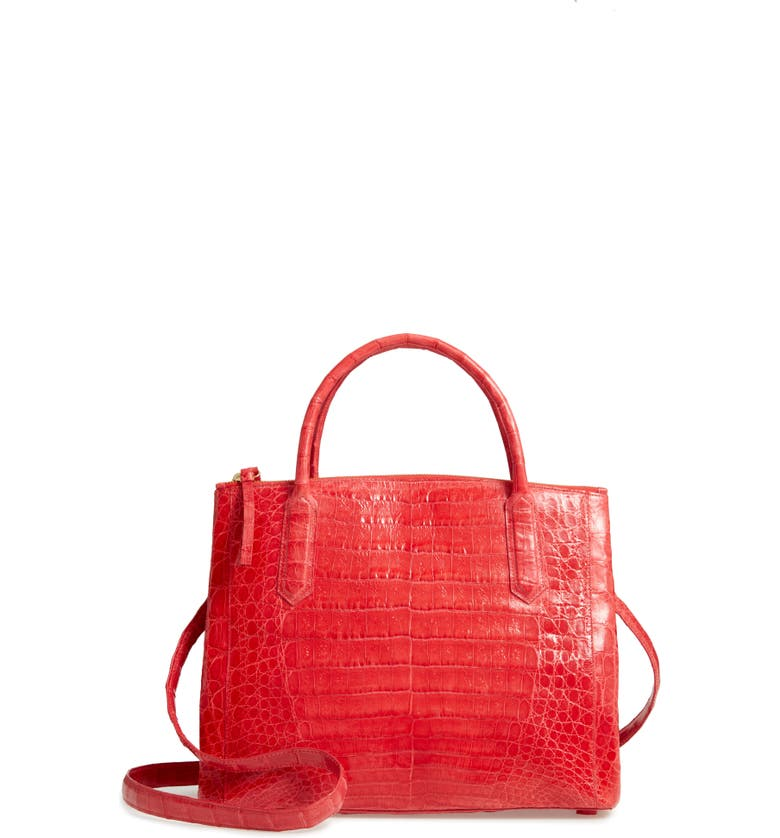 NANCY GONZALEZ Medium Double Zip Genuine Crocodile Tote, Main, color, 643