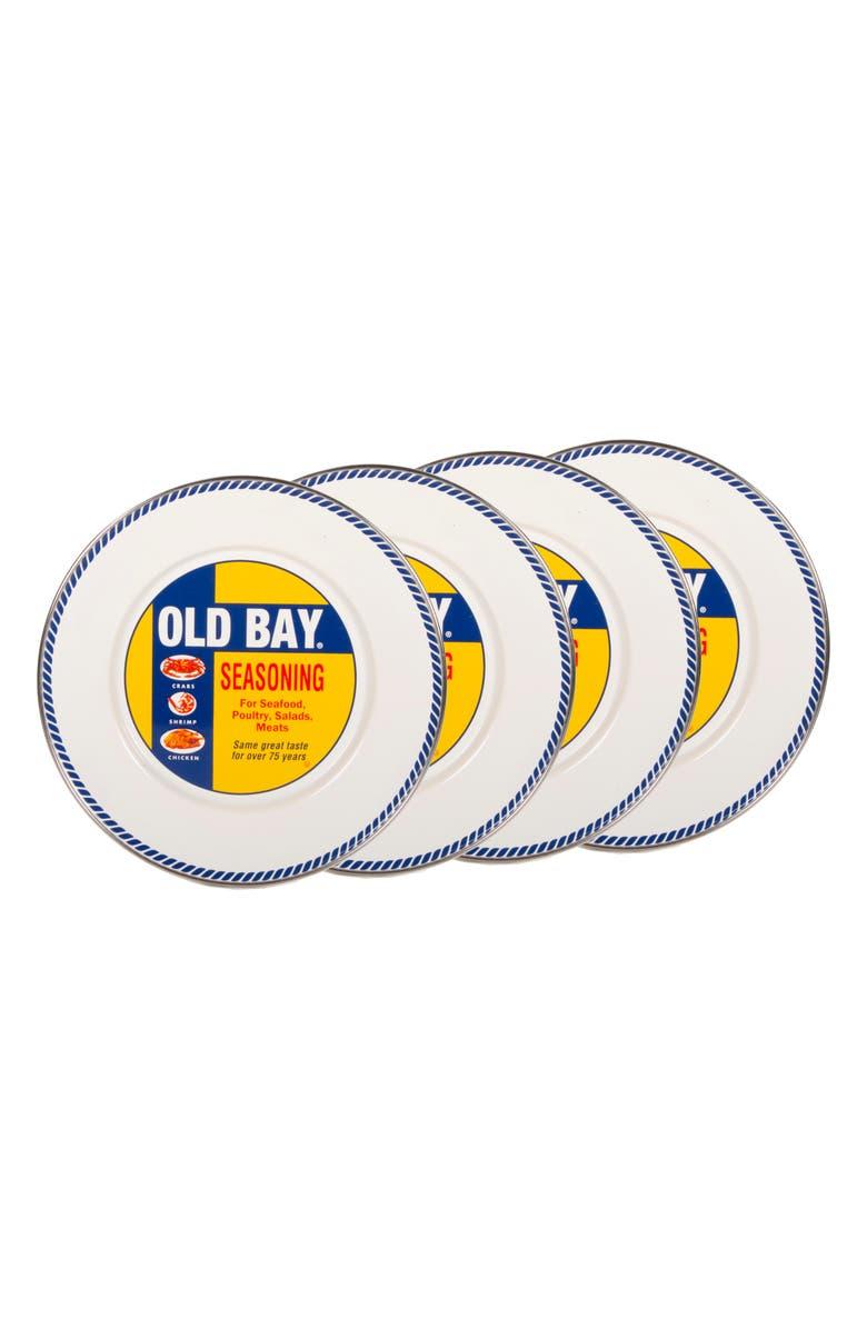 GOLDEN RABBIT Old Bay Set of 4 Sandwich Plates, Main, color, WHITE