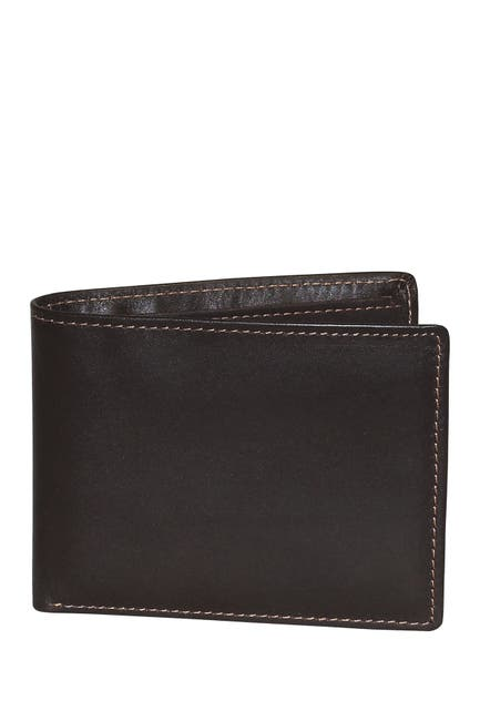Image of Buxton Dopp Regatta Leather Billfold Credit Card Leather Wallet