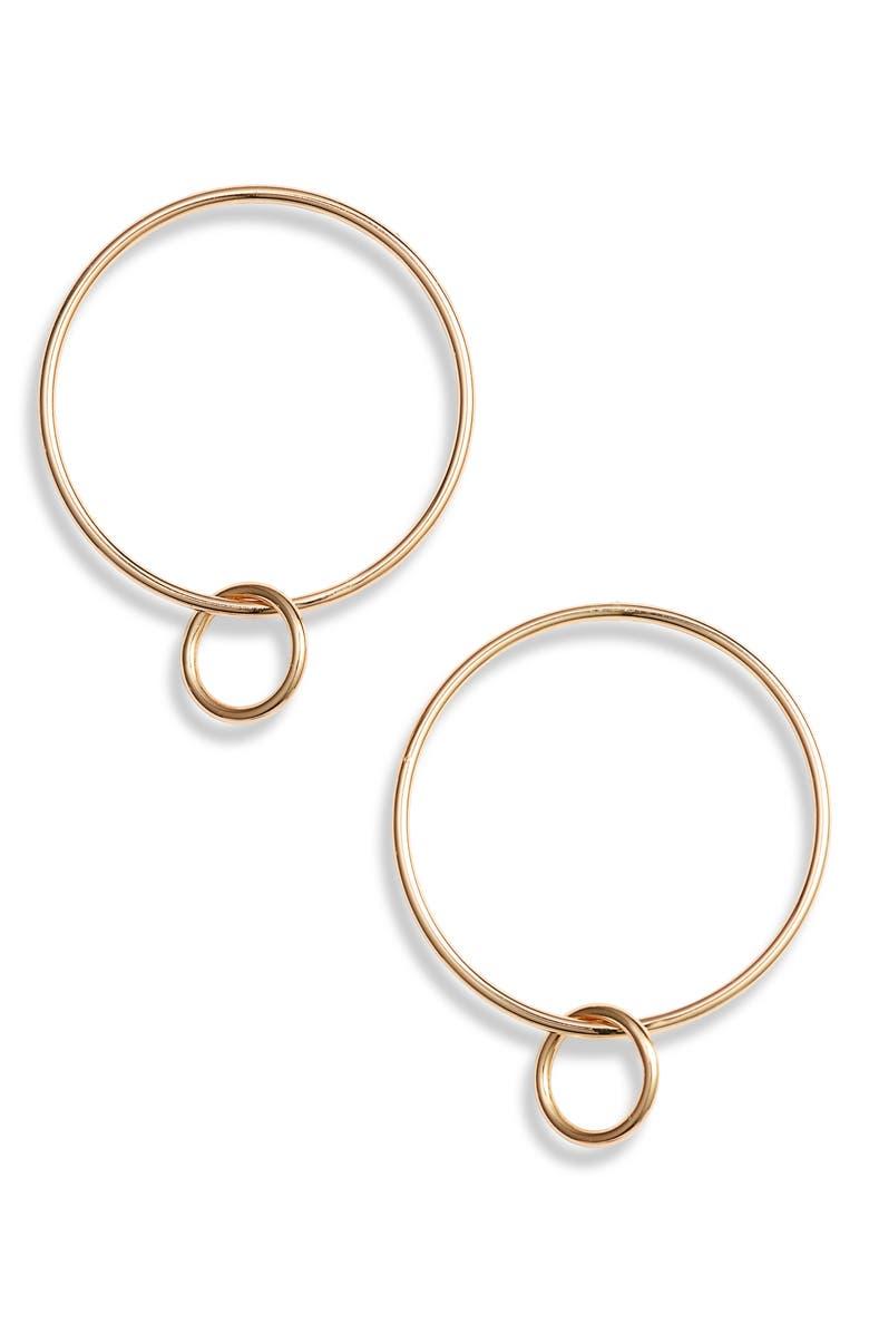 STERLING FOREVER Linked Hoop Earrings, Main, color, GOLD