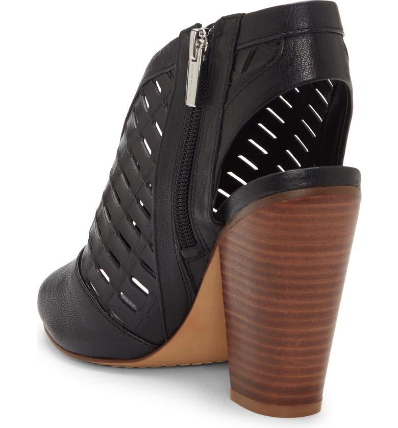 VINCE CAMUTO Korsta Cutout Shield Sandal, Main, color, BLACK LEATHER
