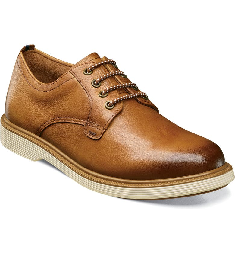 FLORSHEIM Supacush Plain Toe Derby, Main, color, COGNAC
