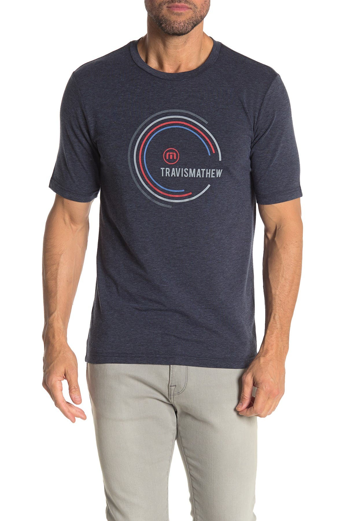Image of TRAVIS MATHEW Breaker Graphic Print Performance T-Shirt