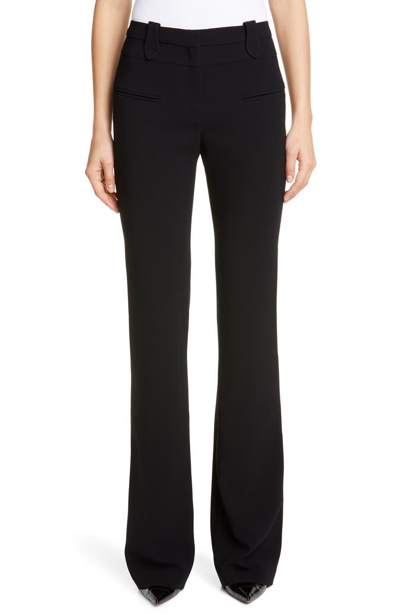 ALTUZARRA Wide Leg Serge Pants, Main, color, BLACK