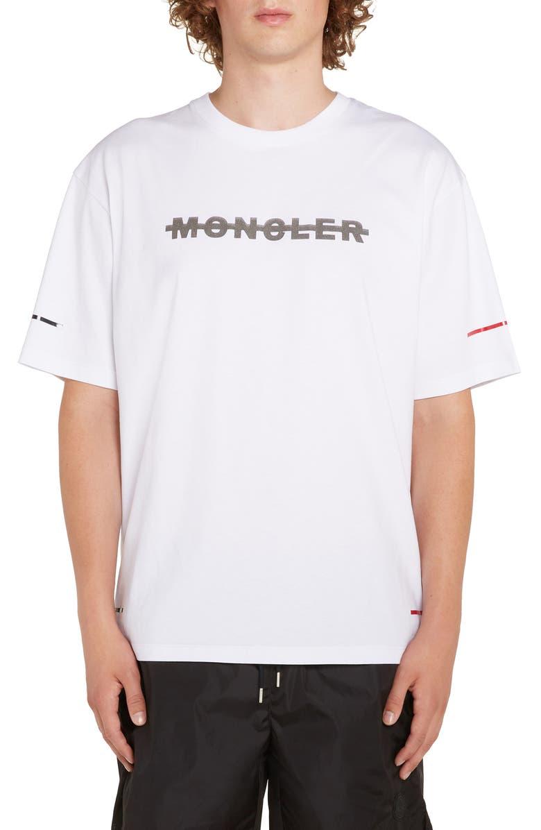 MONCLER Maglia Logo T-Shirt, Main, color, 100