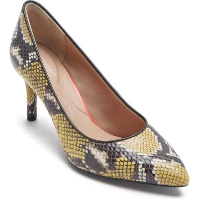 Rockport Total Motion Pointy Toe Pump, Yellow