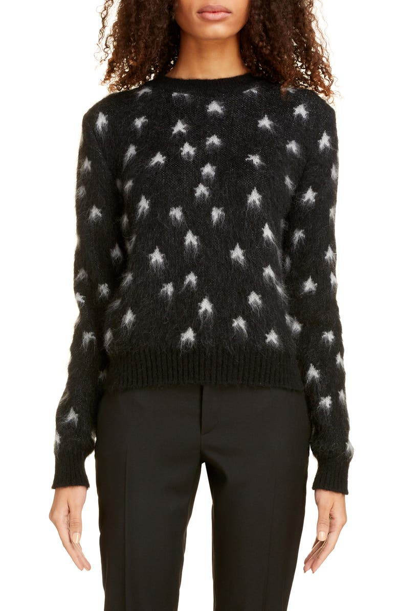 Star Jacquard Mohair Blend Sweater by Saint Laurent
