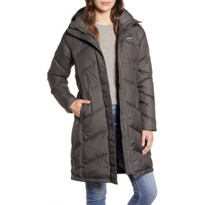 Patagonia Down With It Hooded Down Parka, Grey