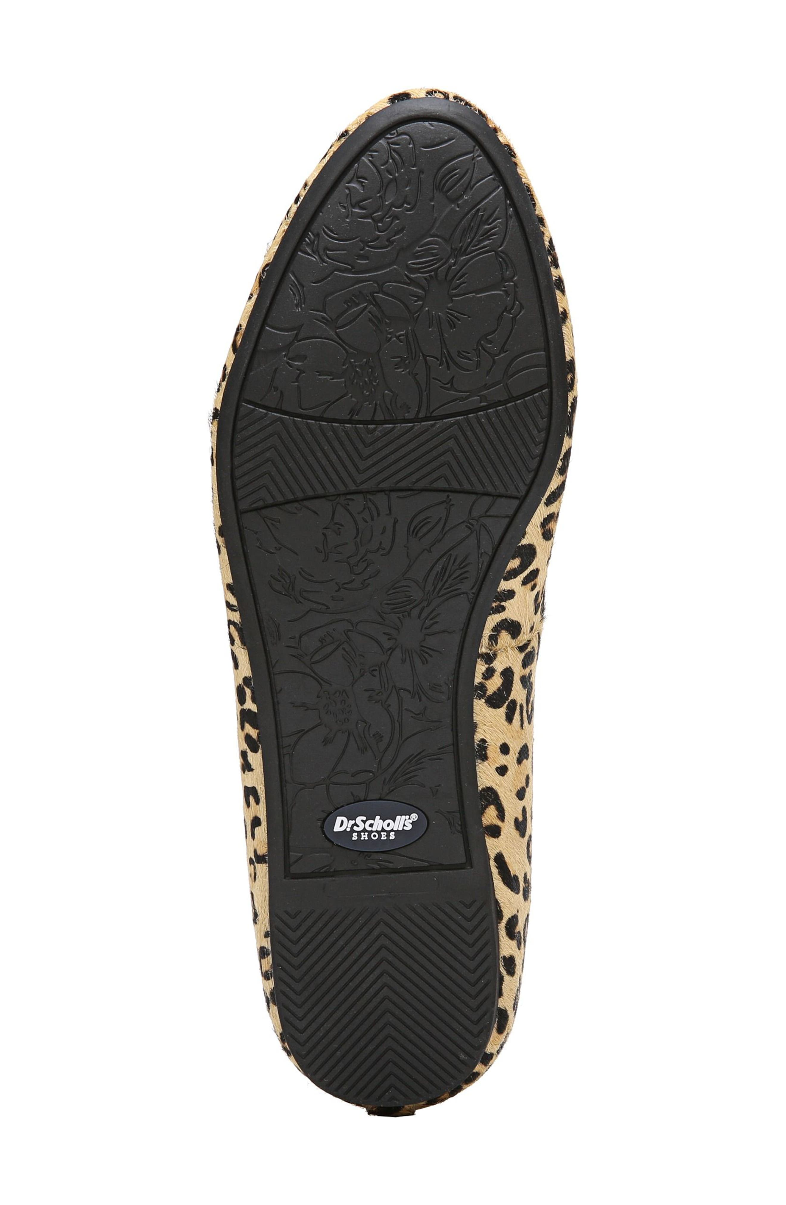 ,                             Giorgie Flat,                             Alternate thumbnail 5, color,                             BLACK LEOPARD CALF HAIR